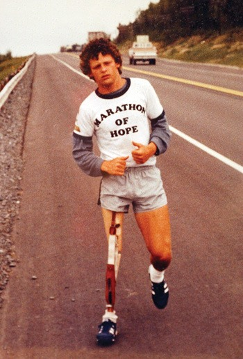 There has been $550 million raised over the years by the Terry Fox Foundation for cancer research.