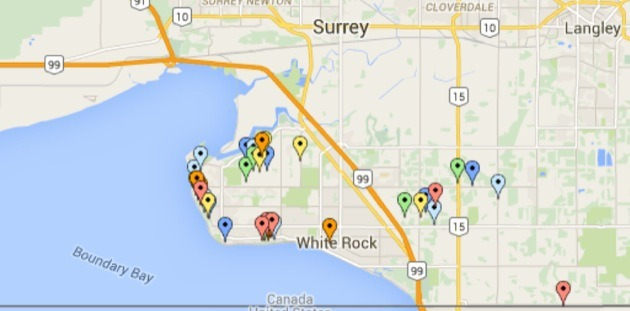 Surrey Canada Map.Map Priciest Properties In Surrey And Fraser Valley Up More Than 2