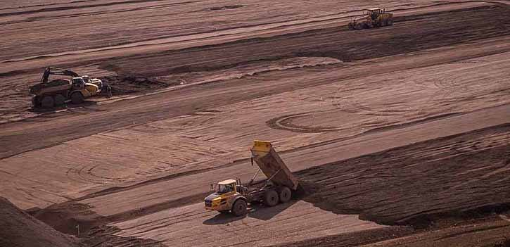 Construction of tailings impoundment facility now in operation at Red Chris mine south of Dease Lake in northwestern B.C.