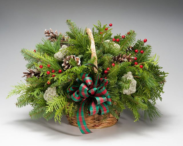 Christmas greens add a festive feel this time of year.
