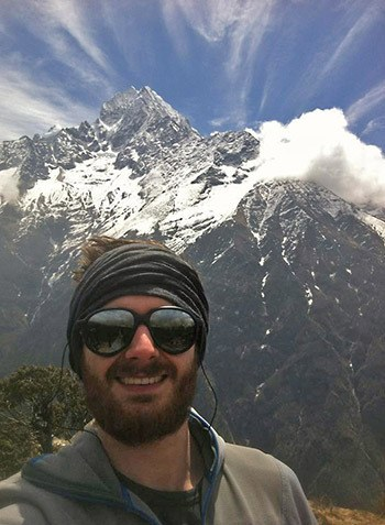 Chilliwack's Shaun Monty was backpacking with friends in Nepal when a 7.9 earthquake struck the country on Saturday.