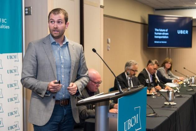 Uber Canada public policy manager Michael van Hemmen