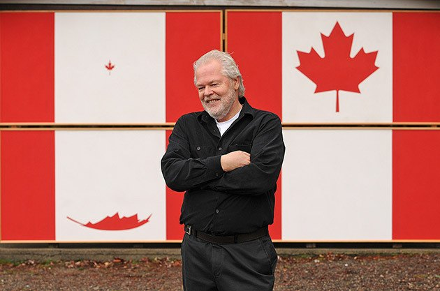 Artist Max Newhouse is inviting people to celebrate the 50th anniversary of the Canadian flag with him this Sunday at Cultus Lake.