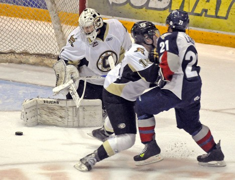 Goaltender Lucas Gore was part of a resurgent Chilliwack Bruins squad that set a franchise record for regular season wins (31) and pushed the favoured Tri-City Americans to six games in the Western Hockey League playoffs.