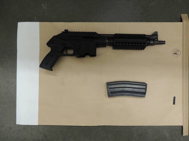 This small assault rifle was seized by police
