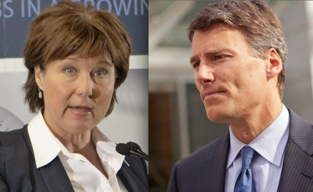 Premier Christy Clark and Vancouver Mayor Gregor Robertson responded Friday to Wednesday's spill of oil from a freighter in Vancouver harbour.
