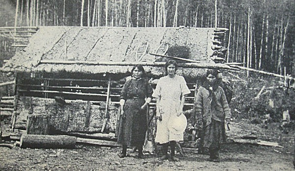 A summer dwelling at McLeod Lake in northeastern B.C.