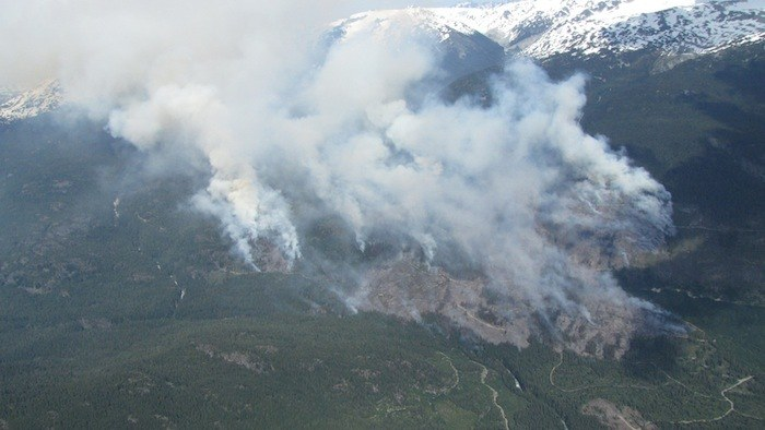The fire in the Elaho Valley west of Pemberton is 40 per cent contained.