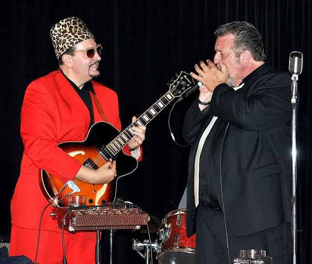 Little Victor (left) and harmonica legend Harpdog Brown to perform two shows at Bozzini's on Oct. 2.
