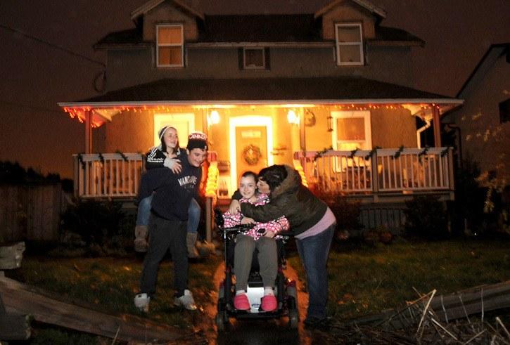 The Drews family (from left) Brooke