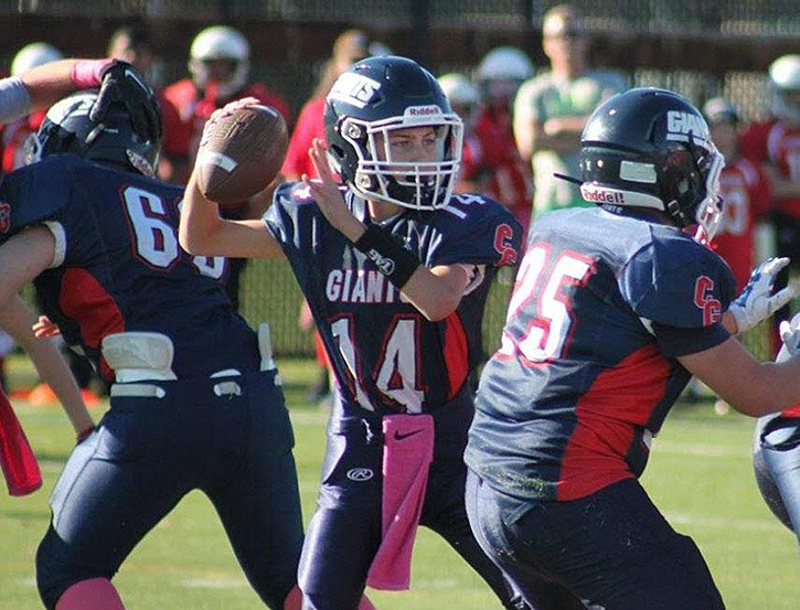 Chilliwack Giants QB Josh Janssen is invited to a showcase football tournament in January.