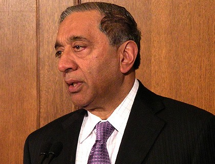Former Attorney General Wally Oppal is head of the Missing Women Inquiry.