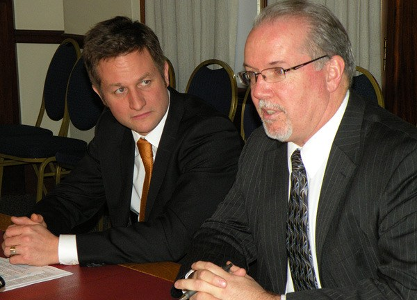 NDP environment critic Rob Fleming and energy critic John Horgan want an independent scientific review of B.C.'s shale gas industry.