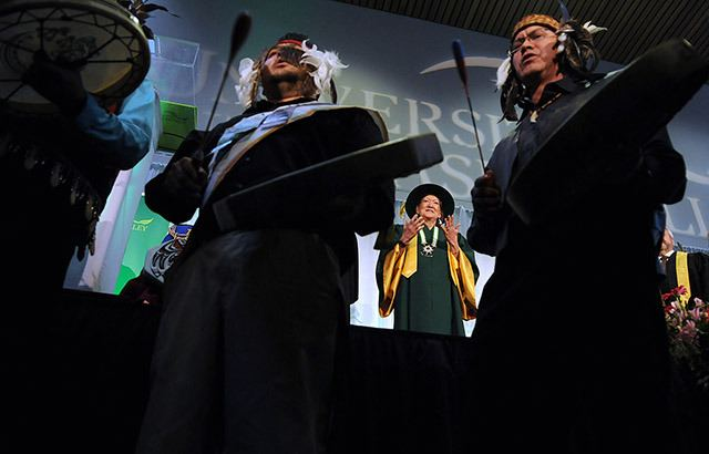 Dr. Gwen Point was installed as the new Chancellor of University of the Fraser Valley on Wednesday during a formal ceremony at the Chilliwack campus. Point is the second chancellor for UFV —before her was Dr. Brian Minter from 2008 to 2014.