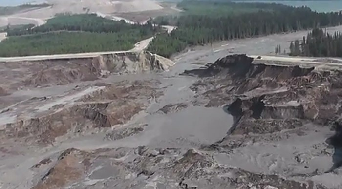 Water flow has subsided from the Mount Polley tailings pond breach