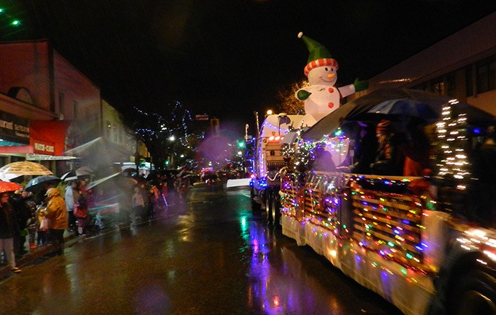 Crowds line the streets in downtown Chilliwack for the annual Rotary Christmas parade Saturday.