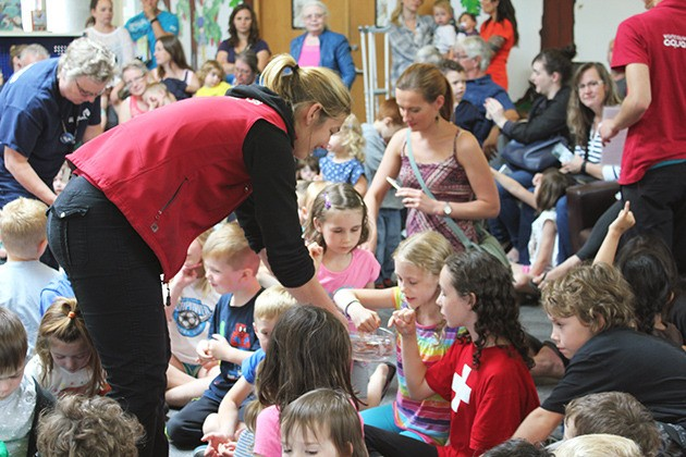 A packed house at the Chilliwack library on Friday explored artifacts and intertidal species with 'Aquazone.'