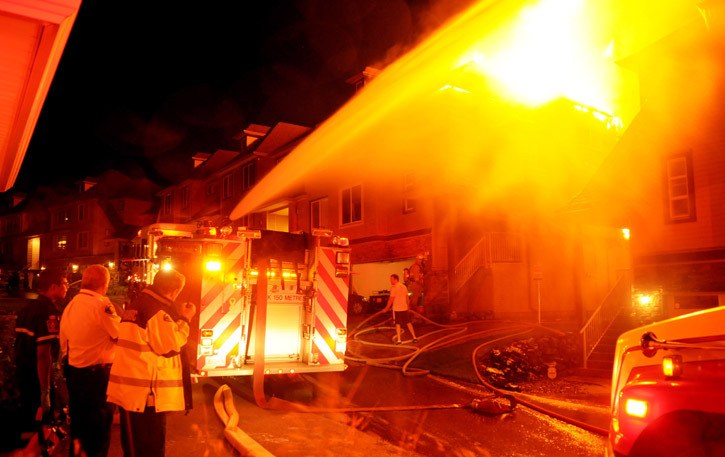 The Promontory townhouse fire last week was an example cited where only two firefighters were on duty initially.