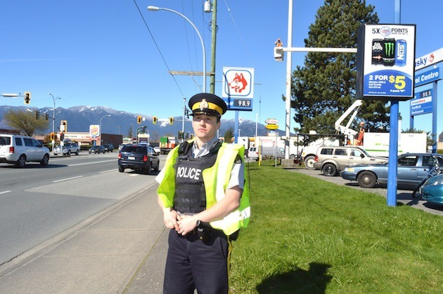Why isn't the message getting through to put the phone down? Const. Michael Sabulsky had this to say: 'We have all become so used to using our cell phones that I think it's a habit for many people to simply have it in their hands