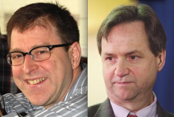 NDP leadership hopeful Adrian Dix and Liberal George Abbott.