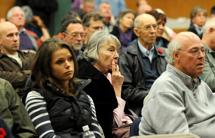 Hundreds of Chilliwack residents attended Tuesday's city council all-candidates meeting at Evergreen Hall.