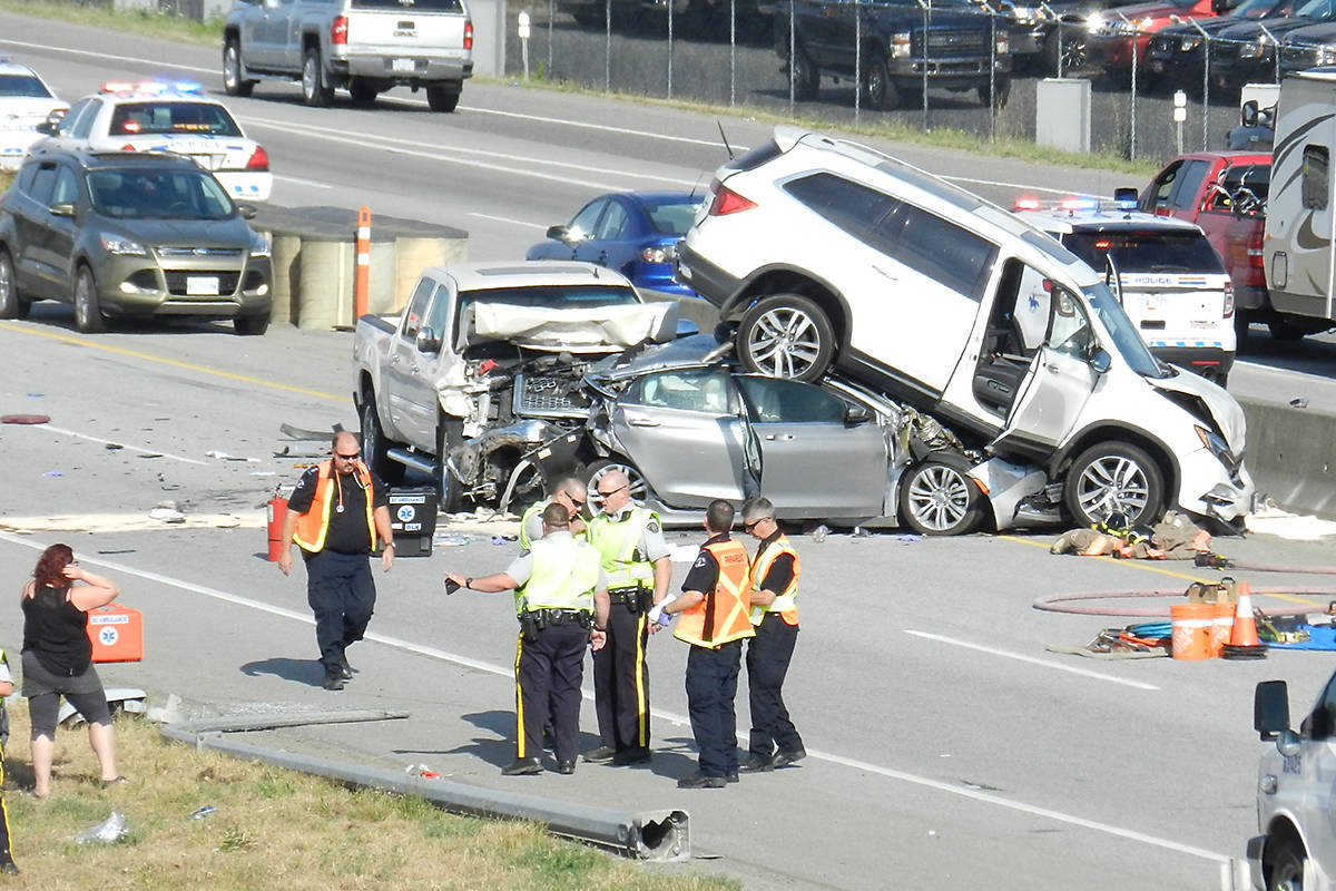 VIDEO: One person airlifted to hospital following multi-vehicle ...