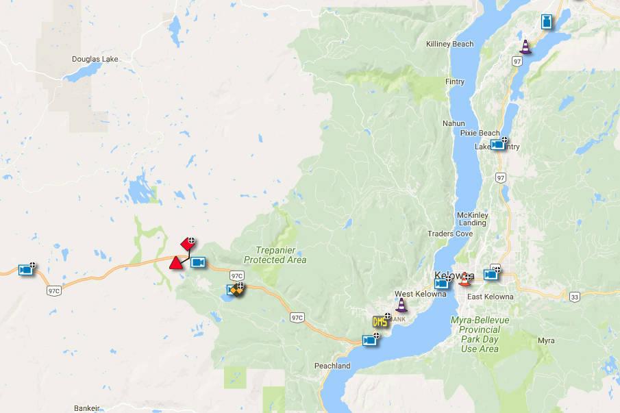 Accident near Pennask summit closes highway – Chilliwack ... on nc map, uk map, usa map, alberta map, canada map, sleep map, ae map, nova scotia map, nunavut map, txst map, vancouver map, yukon map, ab map, washington map, nd map, alaska map, ontario map, toronto map, manitoba map, victoria map,