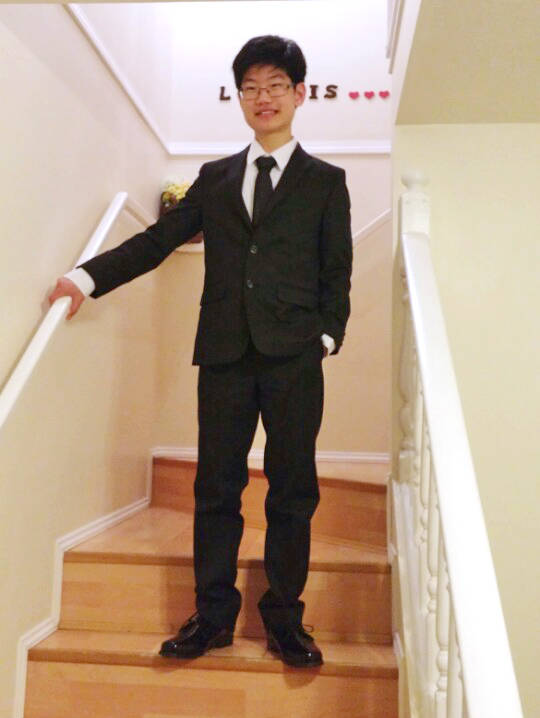 Paul Chung dressed up for his high school graduation. Submitted photo