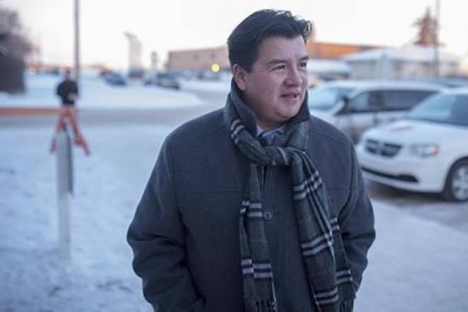 Federation of Sovereign Indigenous Nations Chief Bobby Cameron speaks to media in Battleford, Sask., Friday, February 9, 2018. The chief representing First Nations in Saskatchewan says new proposed trespass legislation leaves the door open for many altercations. Bobby Cameron says there was no consultation with the Federation of Sovereign Indigenous Nations for the legislation. THE CANADIAN PRESS/Liam Richards