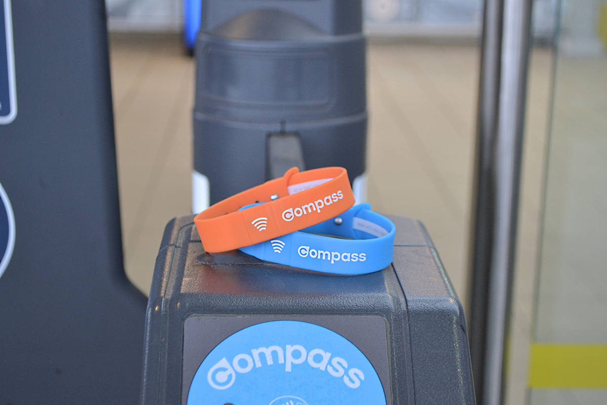 New wristbands as TransLink tests wearable technology. (TransLink photo)