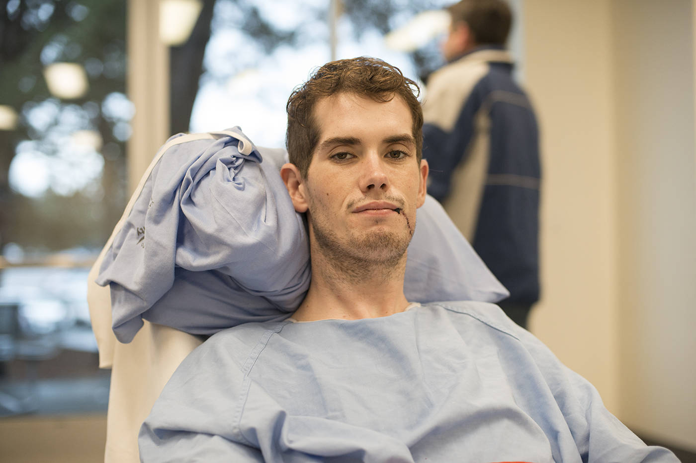 Duncan Moffat is recovering at Victoria General Hospital and is expected to be there through the holidays and into the new year for rehabilitation on his legs. (Keri Coles/News staff)