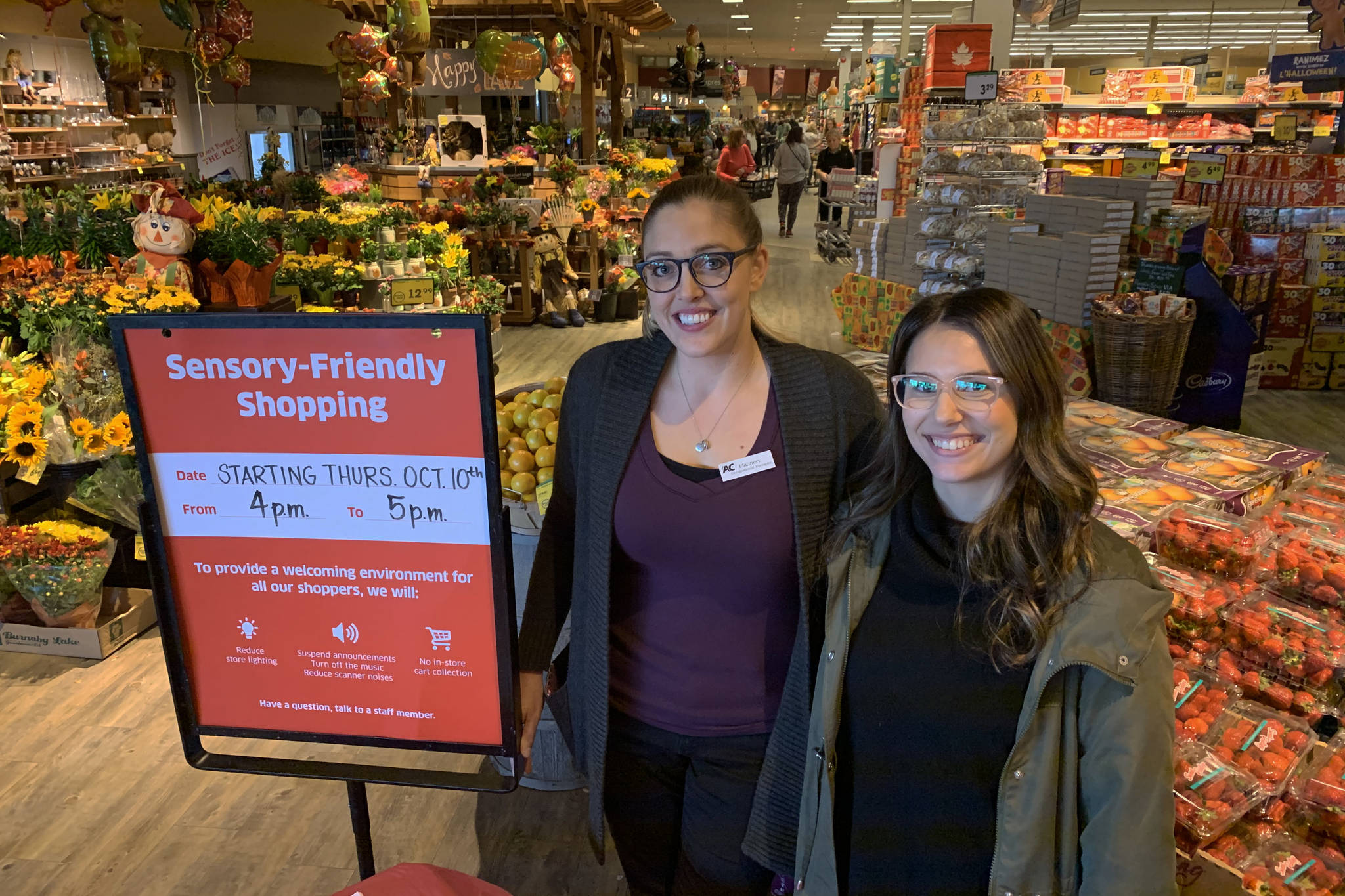 Chilliwack grocery store tries out sensory-friendly shopping