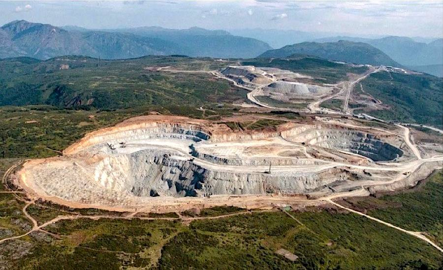 The Red Chris open pit mine, approximately 80 km south of Dease Lake, B.C. (Newcrest Mining photo)