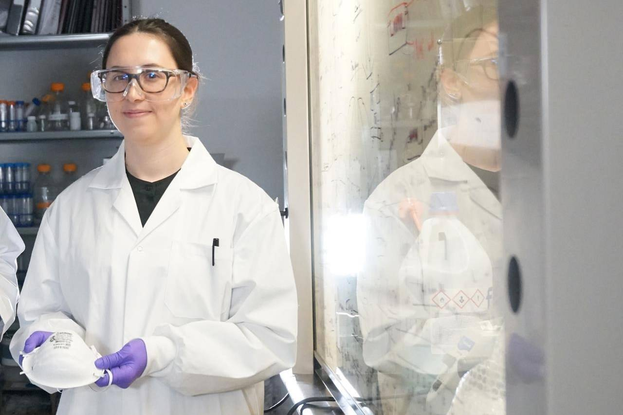 Ilaria Rubino is shown in this undated handout image at University of Alberta. Alberta researcher Rubino has developed technology allowing mostly salt to kill pathogens in COVID-19 droplets as they land on a mask. THE CANADIAN PRESS/HO-University of Alberta