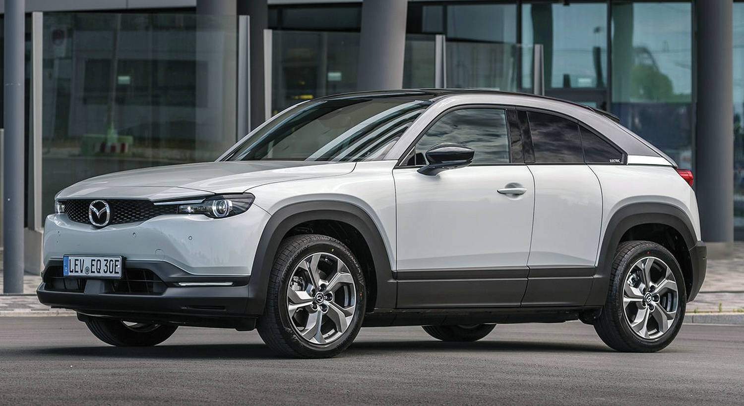 The MX-30 hybrid — instead of a battery-electric EV — is expected for 2021. PHOTO: MAZDA