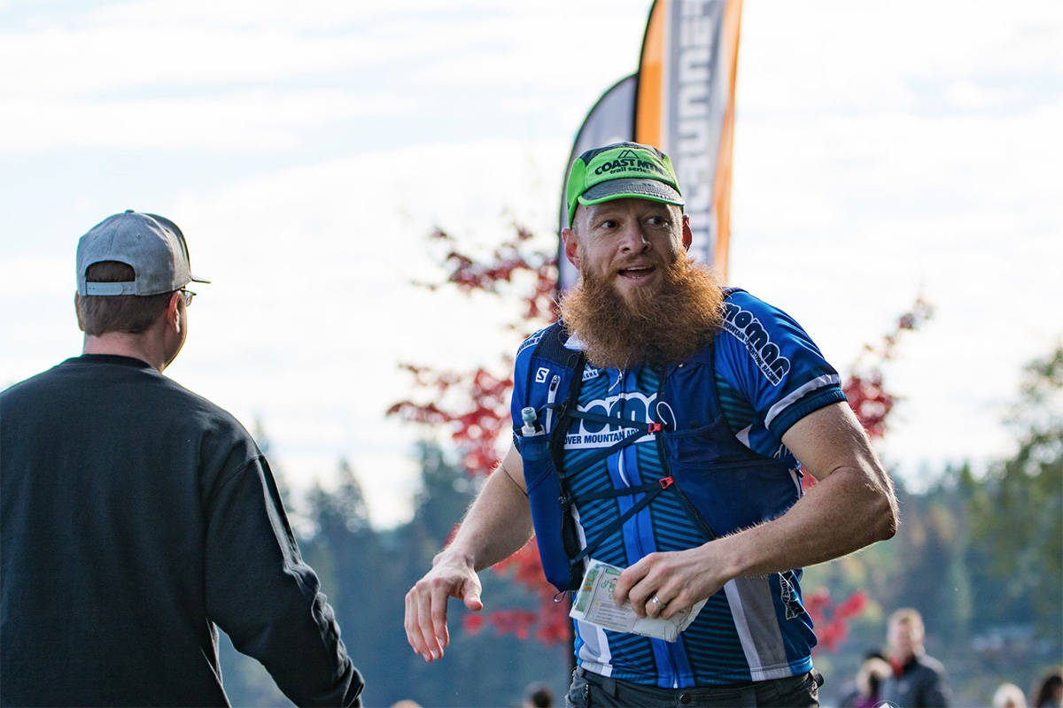 Professional runner Gary Robbins, pictured here at the Mind Over Mountain adventure race on Vancouver Island in 2018, was run off the road by a pickup driver on a Chilliwack road on Dec. 9, 2020. (Facebook)