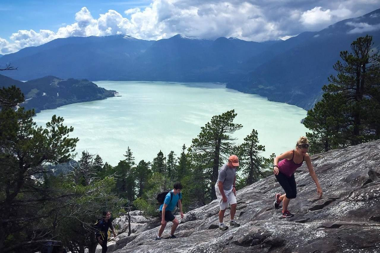 Day-use passes for specific trails within Stawamus Chief and Garibaldi parks along the Sea-to-Sky corridor will be among the measures to address the surge in visitors while protecting the environment. THE CANADIAN PRESS/Darryl Dyck