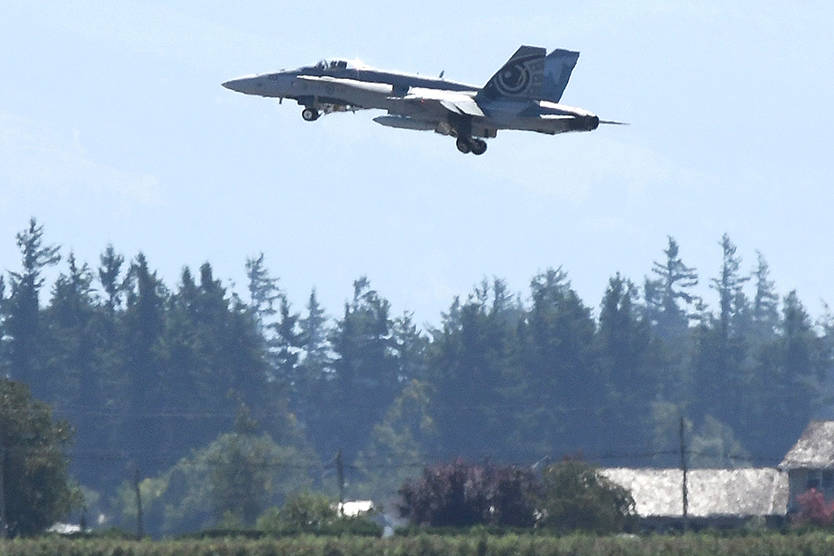 An RCAF CF-18 Hornet arrived at Abbotsford International Airport on Wednesday afternoon in preparation for this weekend's SkyDrive, presented by the Abbotsford International Airshow. Four shows will be offered from Friday to Sunday (Aug. 6-8).