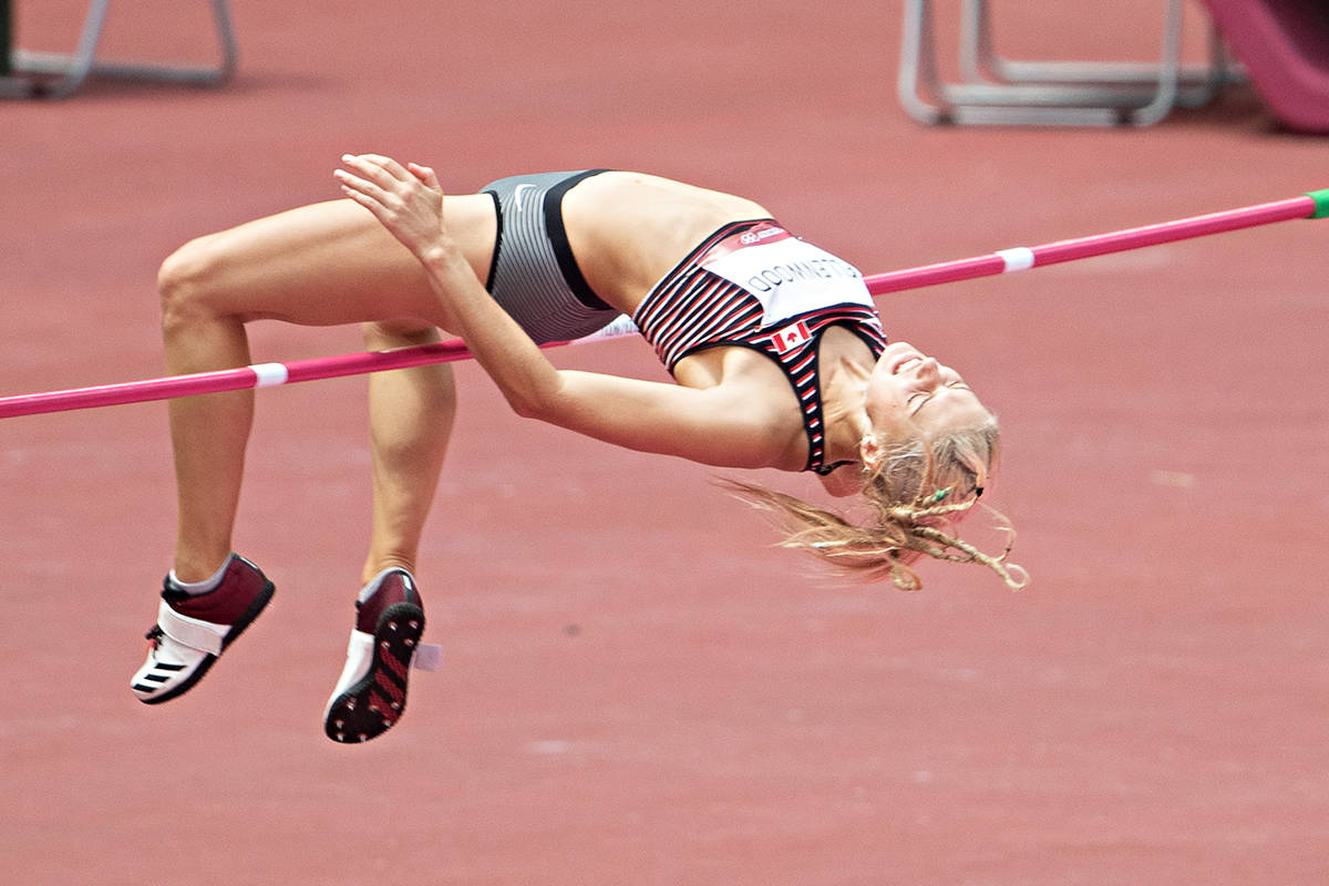 Despite feeling like she was 'hit by a train' Langley's Georgia Ellenwood managed a personal best in the high jump at the Tokyo games on Aug. 4. (Daniel Lea/ CSM)