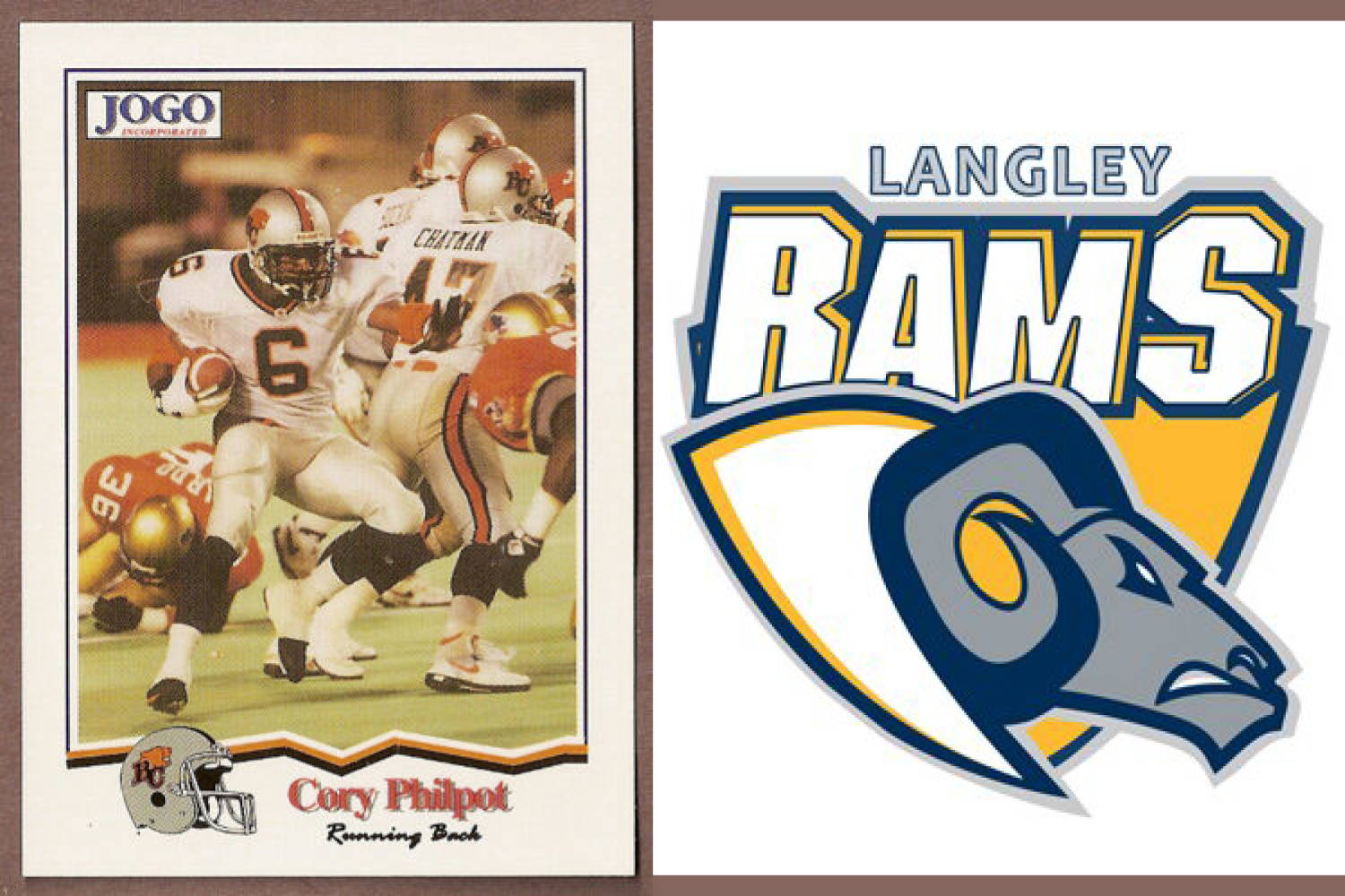 Former Canadian Football League star Cory Philpot is the new head coach of the BC Football Conference Langley Rams.