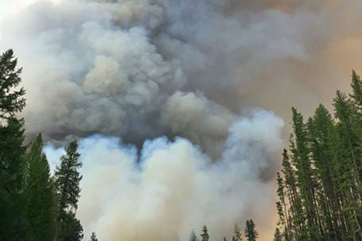 Wildfires raging through Interior B.C., including at Nk'Mip Creek, are expected to become more frequent and severe as climate change progresses and heat waves increase. A new report from the Intergovernmental Panel on Climate Change says reducing carbon emissions is the only way out. (BC Wildfire photo)