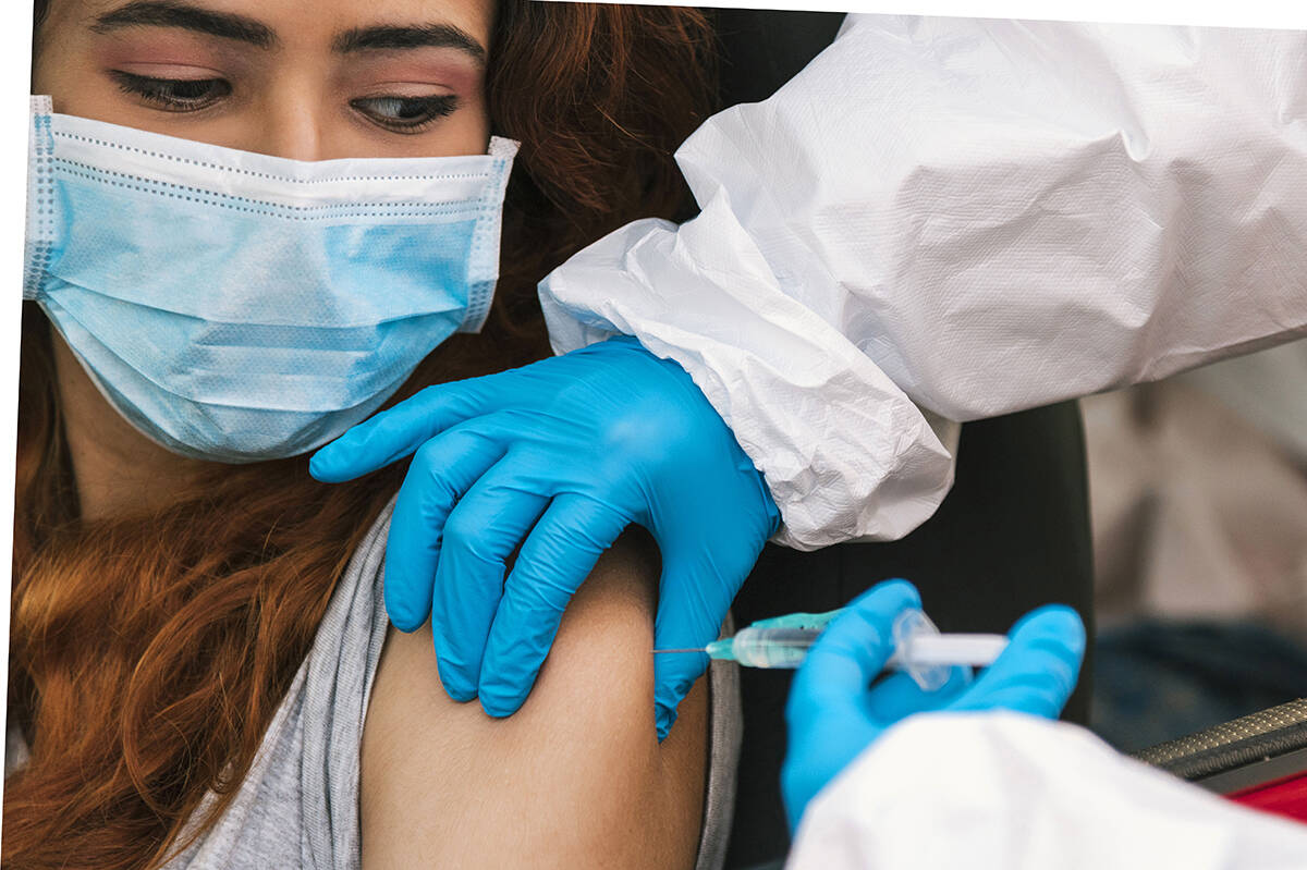 A woman gets her COVID-19 shot. (File)