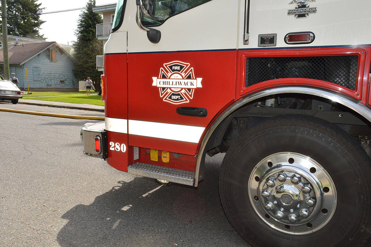 Chilliwack Fire Department responded a fire on Butchart Street where a man was found dead inside the home. (Progress file)
