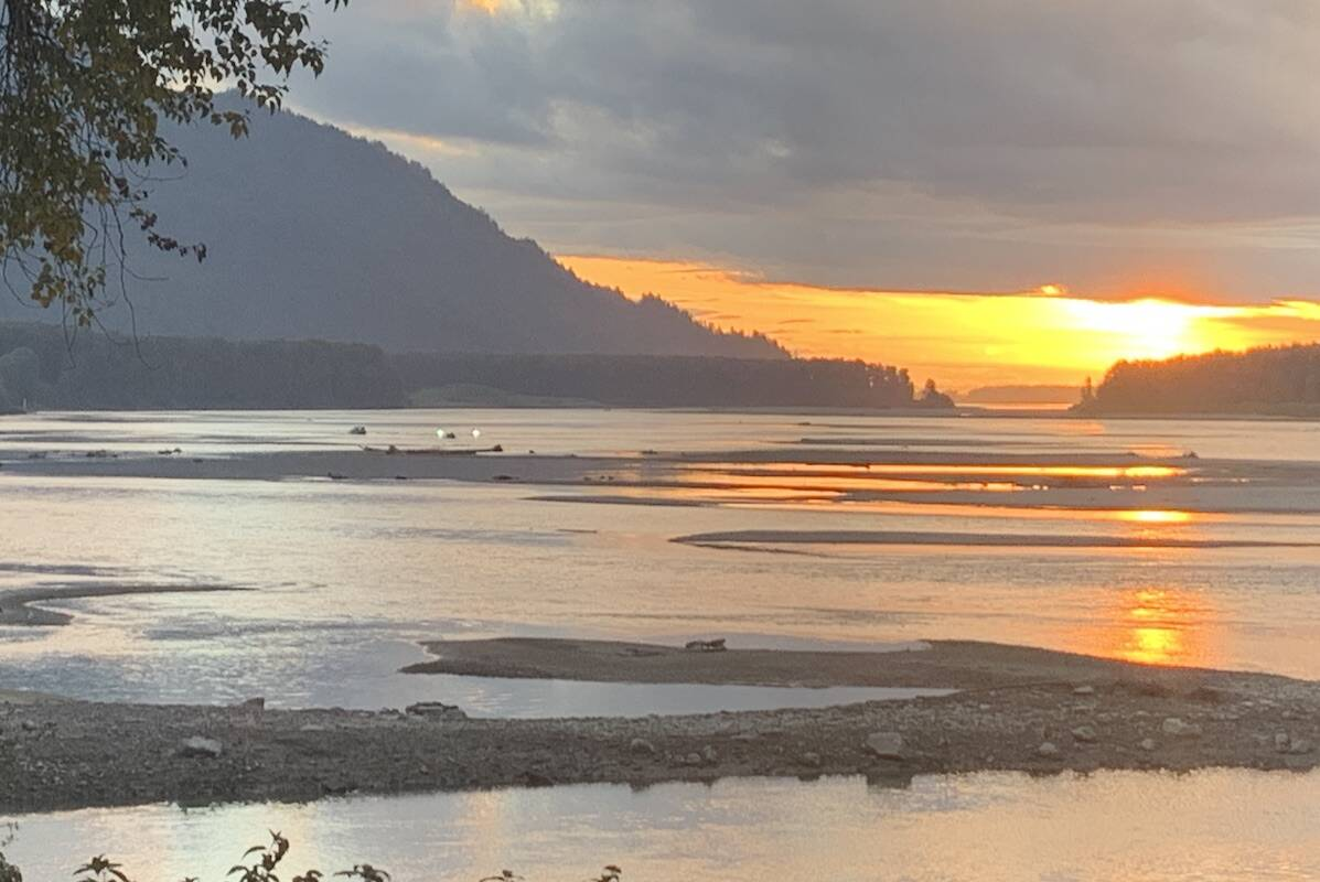 Chilliwack Search and Rescue crews were in boats on the Fraser River after 7 p.m. on Sept. 22, 2021 after they received a report of a body found in or or on the banks of the river near Old Orchard Road by Chilliwack Mountain. (Paul Henderson/ Chilliwack Progress.)