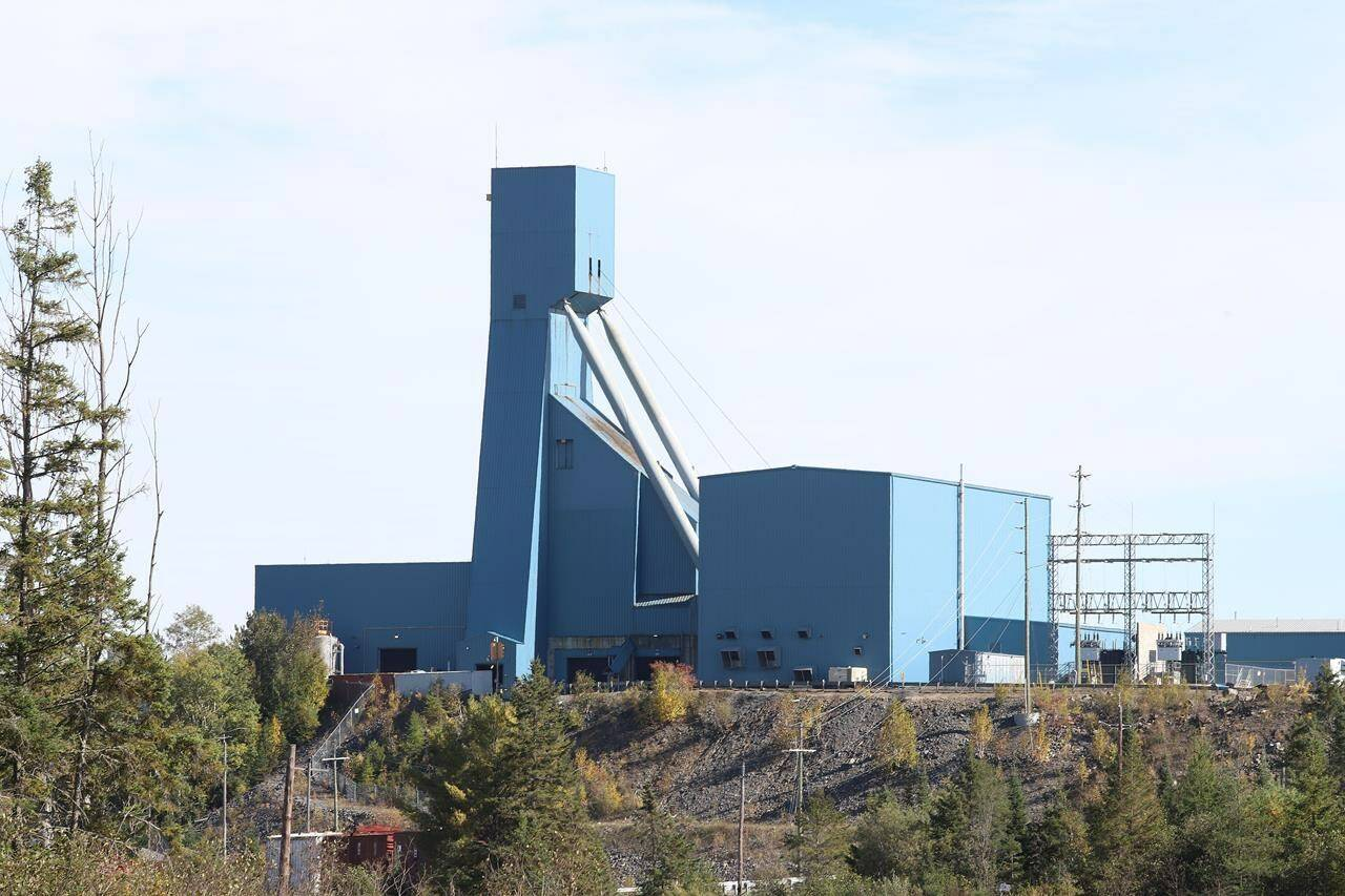 The Totten Mine near Sudbury, Ont., is shown on Monday, Sept. 27, 2021.THE CANADIAN PRESS/Gino Donato