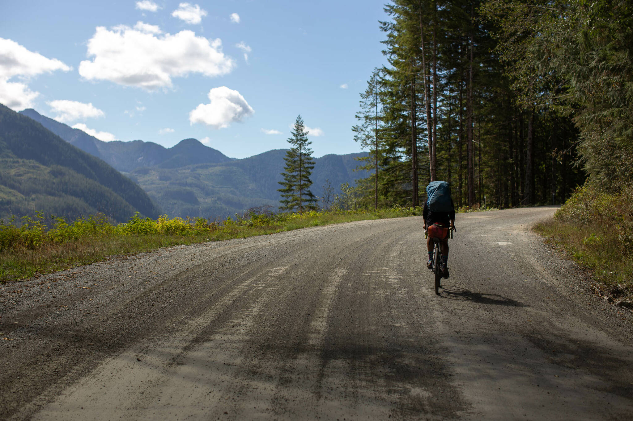 The Tree to Sea loop is a 1,000 km bikepacking route around the north end of Vancouver Island. Photo courtesy Miles Arbor