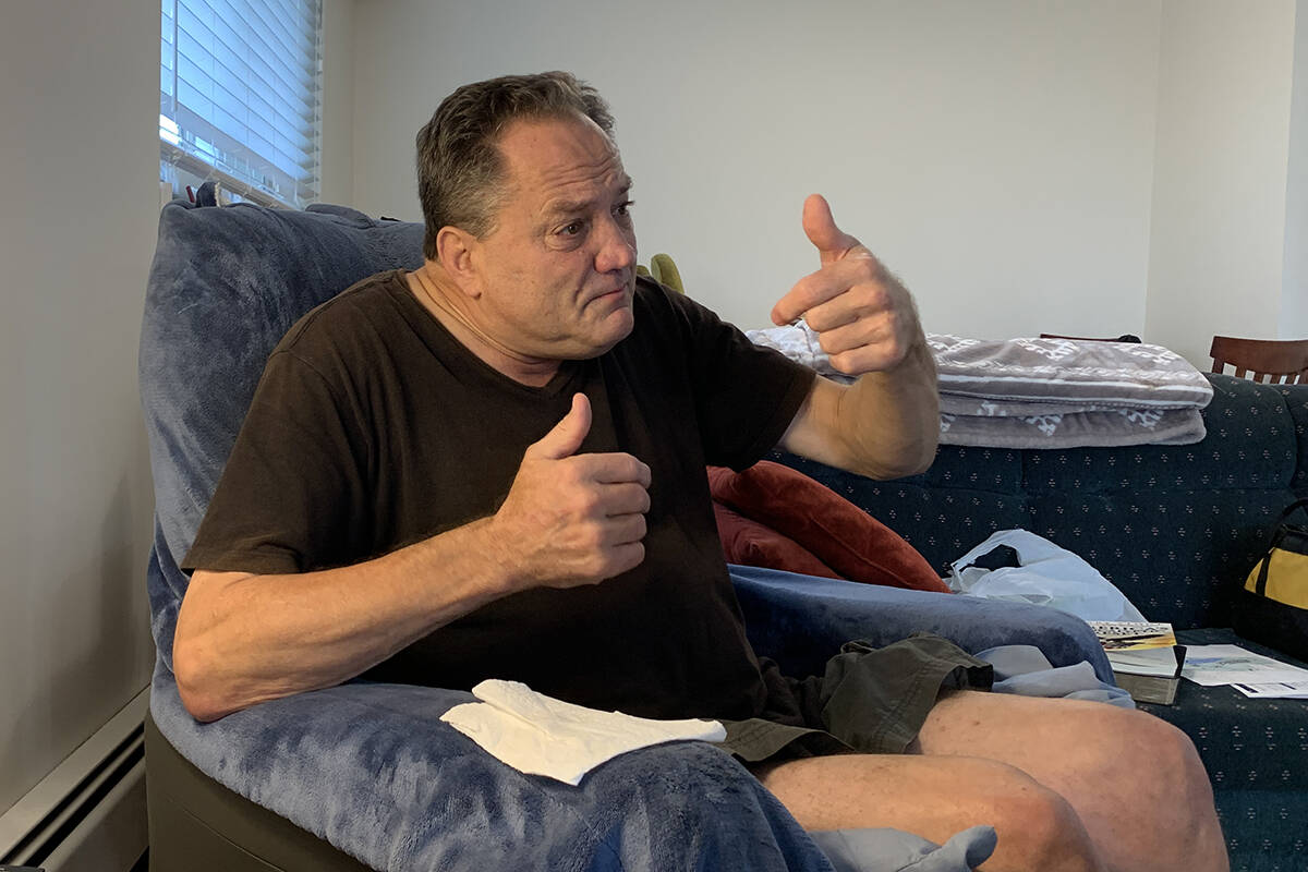 Brian Wise is hoping his case will be revisited and he will be given access to the treatment that once worked for him. (Jessica Peters/ Abbotsford News)