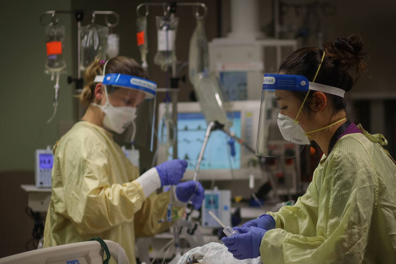 Public Safety Canada says the Canadian Red Cross is also planning to send up to 20 medical professionals, some with intensive care experience, to augment or relieve staff working in Alberta's hospitals. (Photo from Black Press)