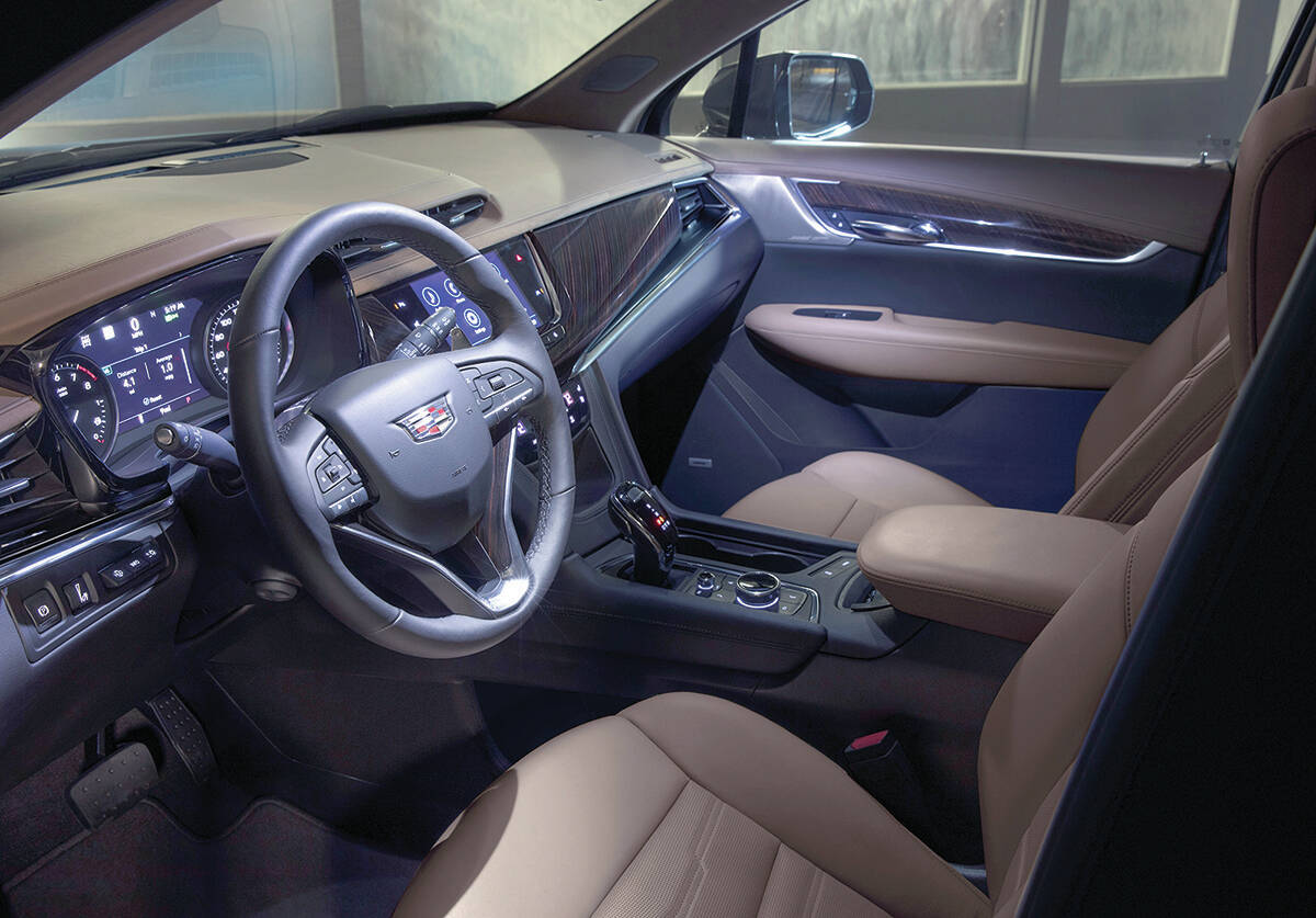 The dash layout is similar to the XT5's, including an electronic gear selector that takes some getting used to. PHOTO: CADILLAC