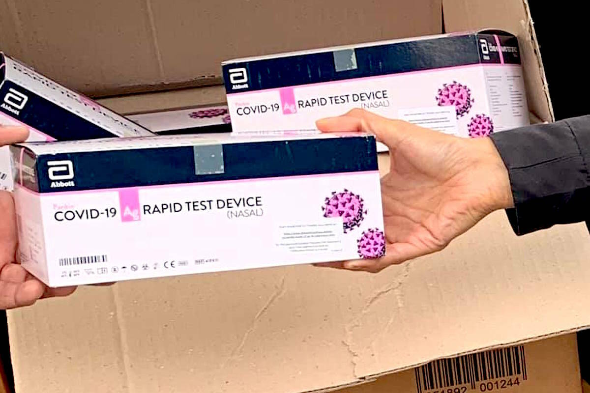 Rapid COVID tests will be handed out in Chilliwack on Oct. 9. (Engaged Communities/ Facebook)